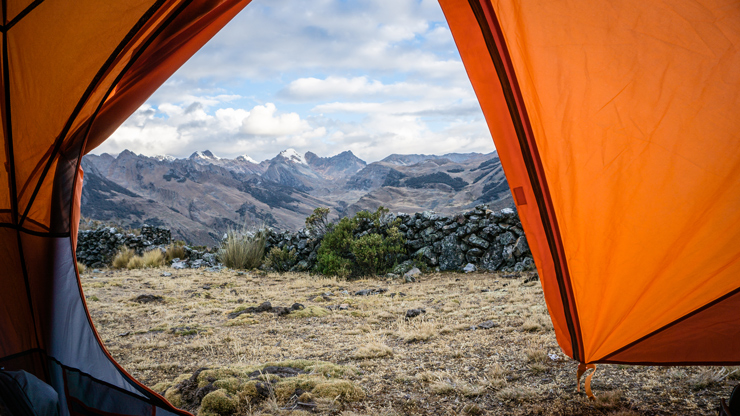 Huayhuash altitude camping