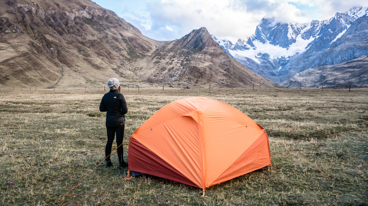Huayhuash circuit camping
