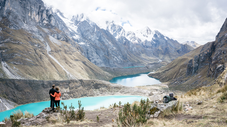 Huayhuash Three lakes view