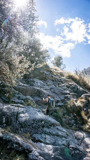 Laguna Churup climbing section