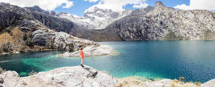 Cordillera Blanca Laguna Churup Panorama